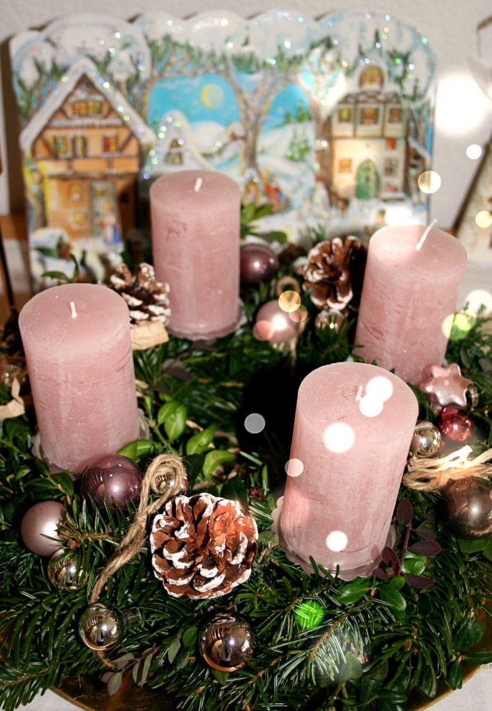 Adventkranz binden
